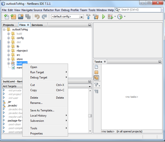 how to create jar file in netbeans